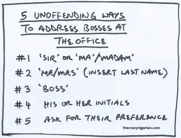 5 Unoffending Ways to Address Boss
