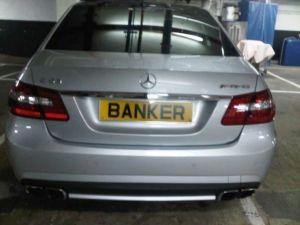 banker licence plate
